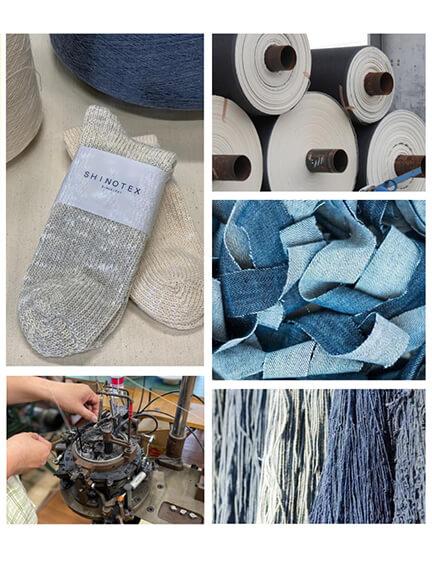 デニムの糸とアップサイクルの糸について